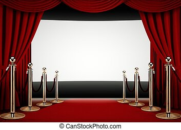 röd matta, till, a, film premiär, händelse