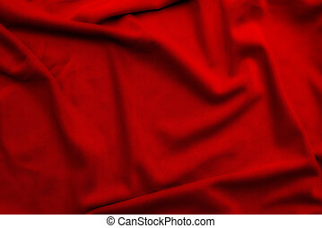 röd, mjuk, silke, material, bakgrund, eller, struktur