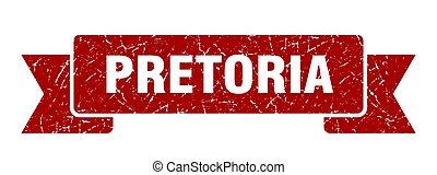röd, pretoria, ribbon., underteckna, grunge, band