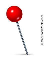 röd, pushpin