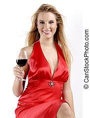 röd, röd vin
