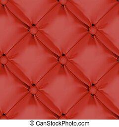 röd, seamless, nappa stoppning, mönster