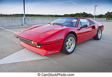 röd, sportbil