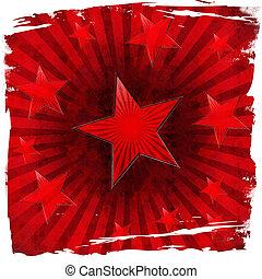 röd, stjärnor