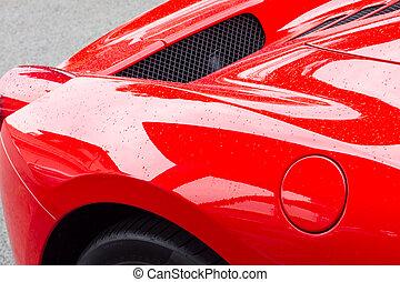 röd, supercar