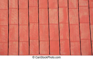 röd, tak, bakgrund