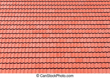 röd, tegelpanna, tak, för, bakgrund