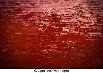 röd, trä, bakgrund, med, struktur
