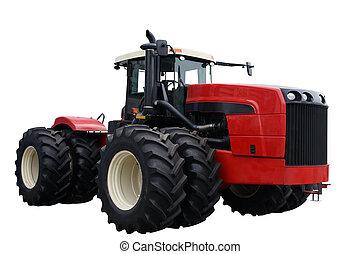 röd traktor