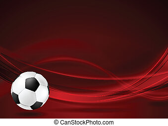 röd, vågig, fotboll, bakgrund
