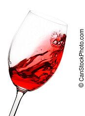 röd vin, i rörelse