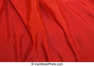 röda siden, abstrakt, struktur, bakgrund