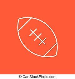 rögbi, foci labda, egyenes, icon.