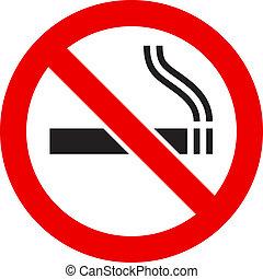 rökning signera, nej