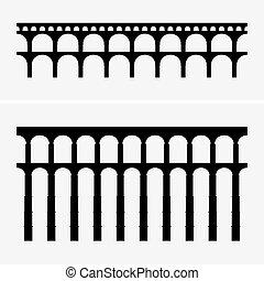 römischer aquädukt, brücken
