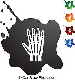 röntga, hand