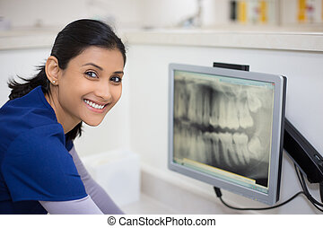 röntgenbild, dentale prüfung