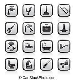 rörarbete, objekt, redskapen, ikonen