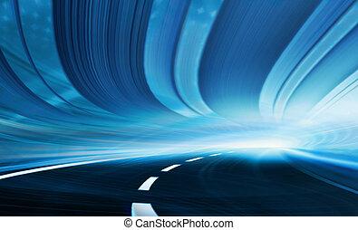 rörelse, abstrakt, hastighet, illustration
