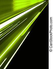 rörelse, grön