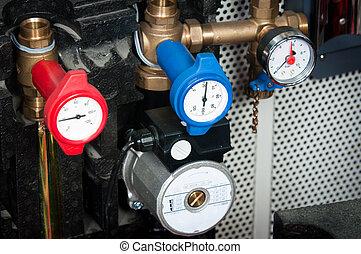 röret, kanal, apparat, original, mätning