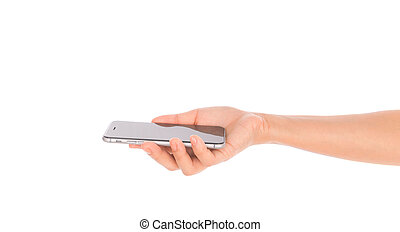 rörlig telefonera, affär, hand