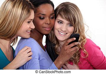 rörlig telefonera, flickvänner