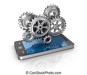 rörlig telefonera, gears., ansökan