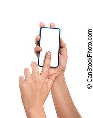 rörlig telefonera, hand