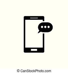 rörlig telefonera, icon., sms