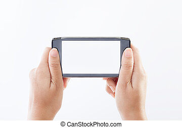 rörlig telefonera, smart, hand