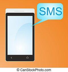 rörlig telefonera, sms