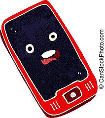 rörlig telefonera, tecknad film