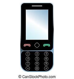 rörlig telefonera, vit, isolerat