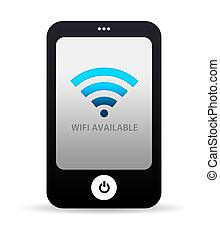 rörlig telefonera, wifi, tillgänglig