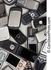 rörlig telefonerar, gammal, -, cellphones
