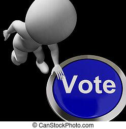 rösta, knapp, visar, poll, val, eller, välja