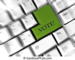 rösta, komma in, -, underteckna