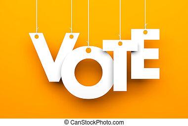 rösta, metaphor., breven, på, strängar