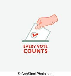 rösta, räknar, varje