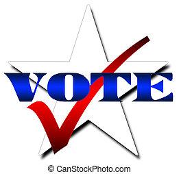 rösta, stjärna