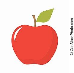 rött äpple, frukt