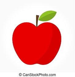 rött äpple, vektor