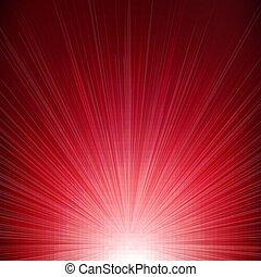 rövid napsütés, piros háttér