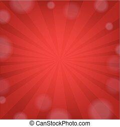 rövid napsütés, piros