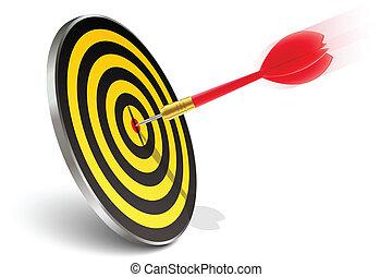 rød, dart, ramme target