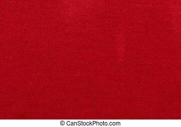rød, fabric, idet, en, baggrund