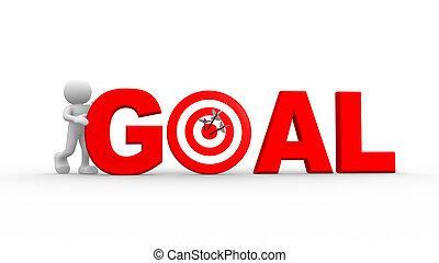 "rød, ""goal"", glose"