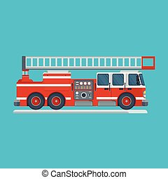 rød, ild motor