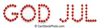 rød, jul, bold, glædelig jul, bygning, gud, ornamentere, ...